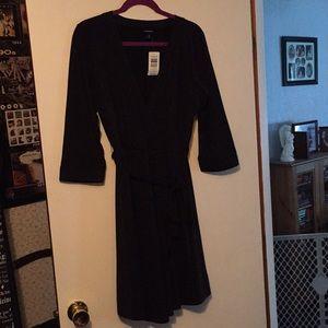Torrid Black Jersey Knit Wrap Dress Size 0 (12-14)